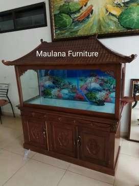 Aquarium meja bufet hias ikan ready banyak.