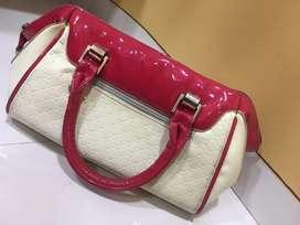 Pink and White HandBag