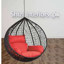 Hanging Swing Chair for ceiling + Cushion set + Chain + S hook - STAND