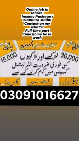 Male and female staff required student must be join