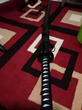 Pedang Katana dari kayu, samurai X look
