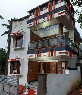New 6bhk  2floor house at sreekariyam for sale