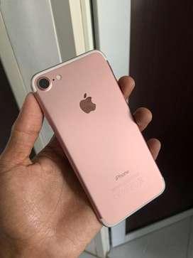 Iphone 7 128gb rose gold mulus pemakaian cewek