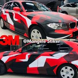 3M graphic Camoflage loreng stiker mobil Rapi mangele Premium Wrapping