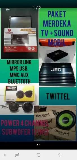 Paket Tv Mobil Mirrorlink Plus 1 Set Sound Mobil Rp. 1.4jt