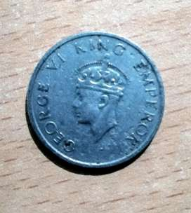 Indian Antique Coin 1947,