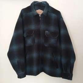Jacket tartan wool Vintage brand woolrich