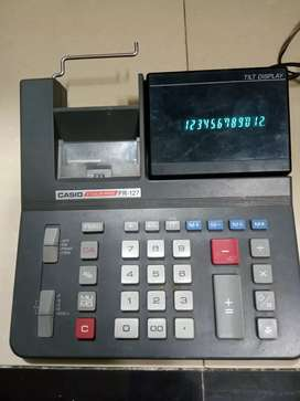 Casio Fr-127 Two Color Printing Calculator