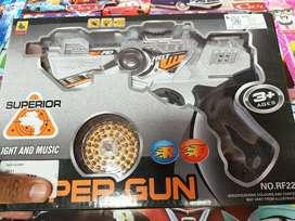 Mainan anak superguns . Free batre
