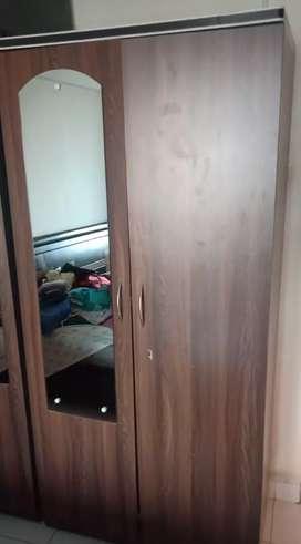 Double Door Wardrobe with mirror