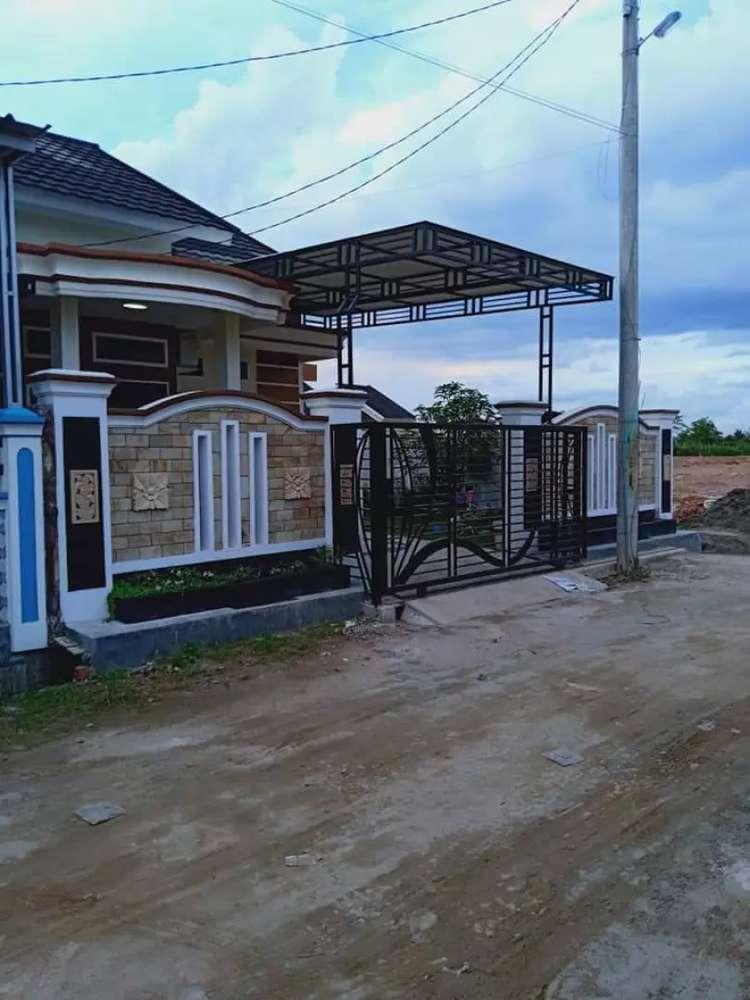 rumah dengan tanah hook