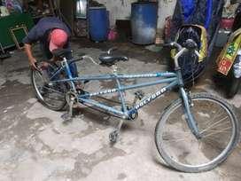 sepeda tandem sepeda 2 orang sepeda sambung dua kursi sepeda polygon