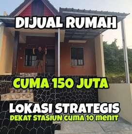 Dijual Rumah Cuma 150 Juta Lokasi Strategis dekat Toll