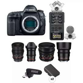Camera ,lens ,gopro,gimble for rent