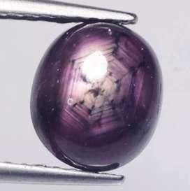 Natural Violet Ster Safir