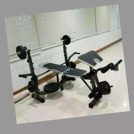 home gym bench press alat beban berat ID-781N K-77