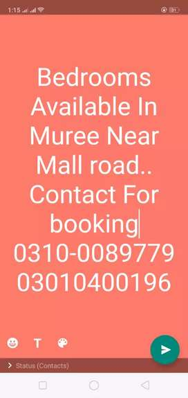 Bedrooms Available In Muree Near Mall road on main Road