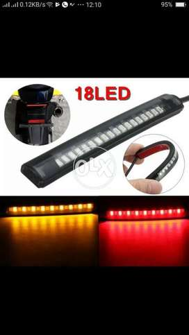 Universal 18 LED Motorcycle ATV Tail Lamp Rear Brake Light Stop Turn S