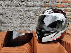 Helm Fullface KYT K2 Rider Bonus visor Black