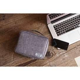 Travel Usb Charger Cable Bag Perlengkapan Gadget Organizer Import