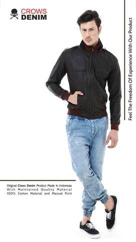 Jaket Leather Black, Jaket Cowok keren, Jaket Pria, Jaket murah Jogja.