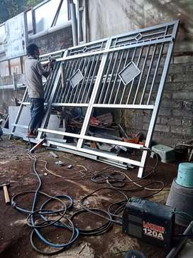 Terima pekerjaan pagar minimals , kanopy, ralibg tangga