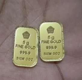 Aksesoris Emas batangan untuk Mahar