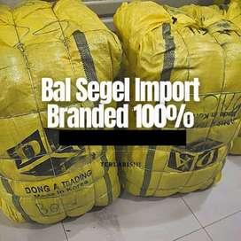 paket usaha bal segel tas branded import second hand..