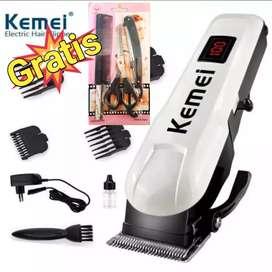 Kemei 809A alat cukur rambut bulu brewok kemei free gunting pangkas
