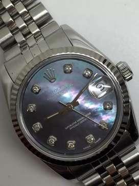 Rolex Boysize 31mm Kerang Biru Diamonds