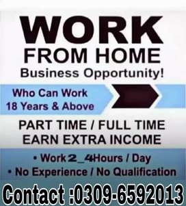 We're looking Male and Female Specially(Housewive/Fresher)Online Work