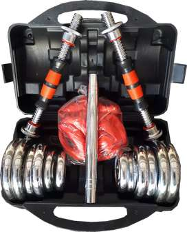 Dumbell set Box Chrome List Karet 20 kg Import