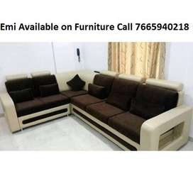 Furniture on Emi at lowest price new Sofa set 8600,L shape sofa 14100/