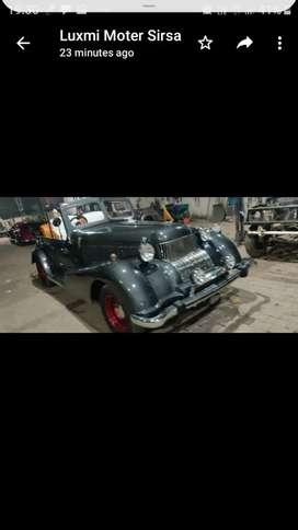 Wedding replica vintage car