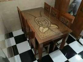 Meja makan jati 2541