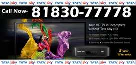 33% Off- New Connection Tata Sky DTH DishTV Tatasky Dish Videocon-COD