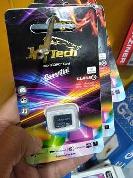 kartu memori memory micro sd jm tech 8gb class 10 (sinar kita)