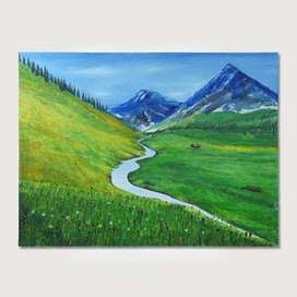 Natural Landscape Handmade Oil Painting On Canvas Original Wall Art