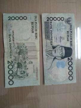 Uang kertas 20 ribu gambar Ki Hajar Dewantara th 1998