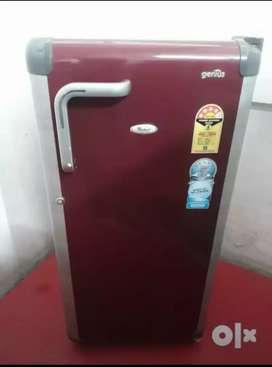 Whirlpool genius single door fridge 190liters
