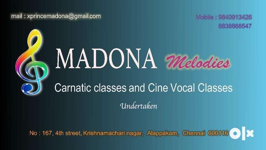Carnatic Music and keyboard instrumental Carnatic classes undertaken.