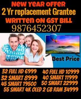 32 Android Smart Led Tv 2 Yr Full Replacement Grantee GST Bill