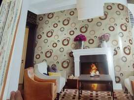 Wallpaper Import Motif Circle dan Garis Ready Stok
