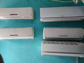 AC 1/2pk s/d 1pk berbagai merek PAKET TERIMA DINGIN garansi 3bulan