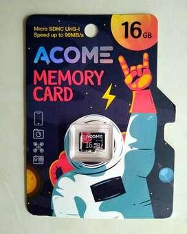 MicroSD 16GB Acome Class 10 High Speed 90 MB/s Garansi Resmi