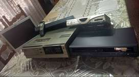 PC HP Monitor-15 in, Satellite Receiver , VHS player, Cisco Router