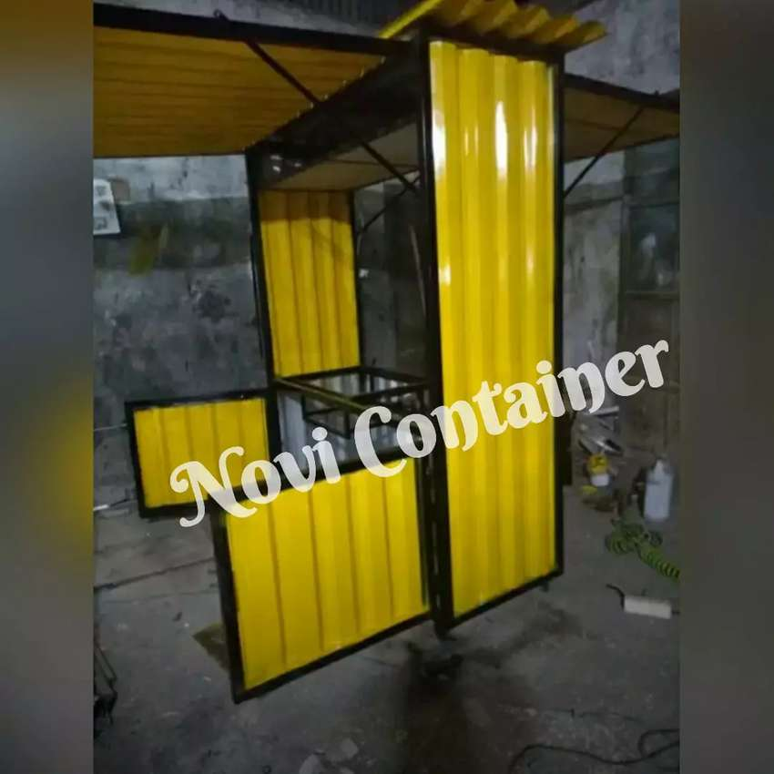 Booth semi container angkringan - container food angkringan - containe 0