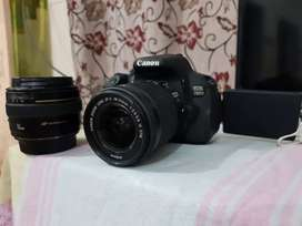 Canon 700d with 2 lenses detail chk