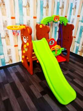 Perosotan Ayunan Bear slide swing set brown fulset baru stok