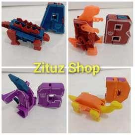 Robot huruf transformer robot transformer mainan robot murah